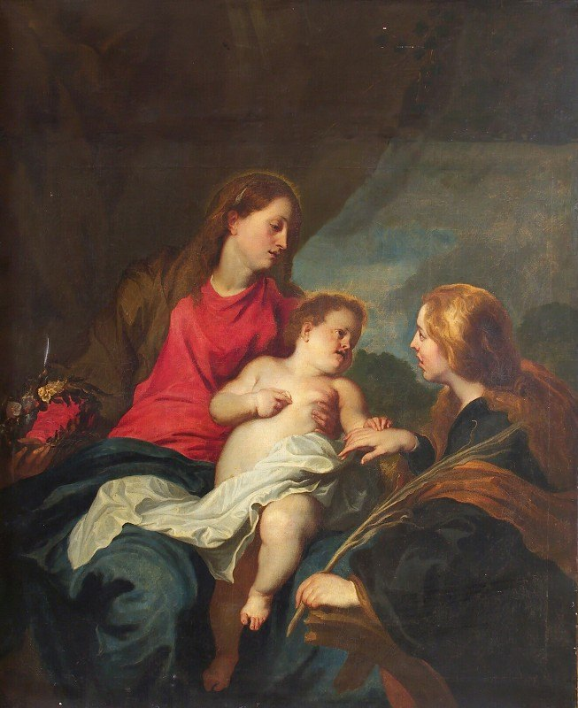 Anthony van Dyck - The Mystic Marriage of St Catherine of Alexandria