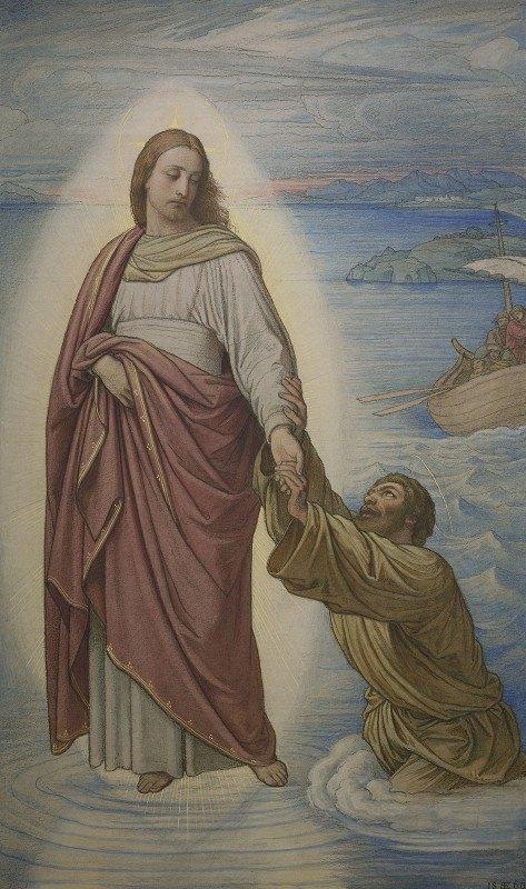 Edward Von Steinle - Christi Rettung des sinkenden Petrus