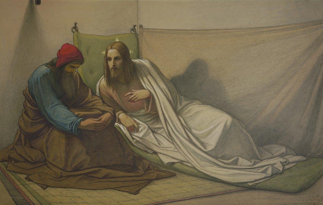 Edward Von Steinle - Christ and Nicodemus