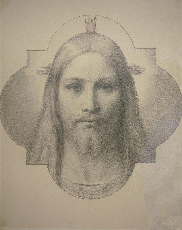 Edward Von Steinle - Christ's head