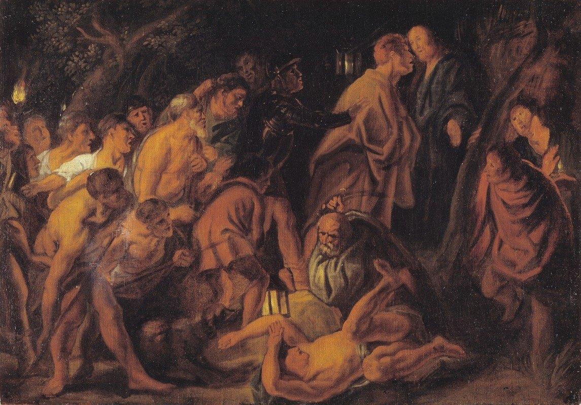 Jacob Jordaens - The Betrayal and Arrest of Christ in Gethsemane