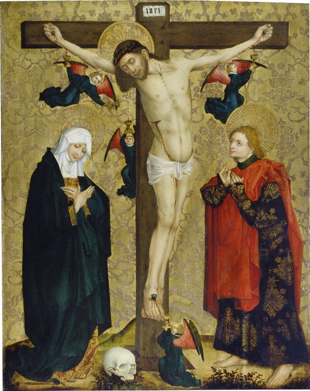 Master Of The Middle Rhine - The Crucifixion with Mary and Saint John the Evangelist