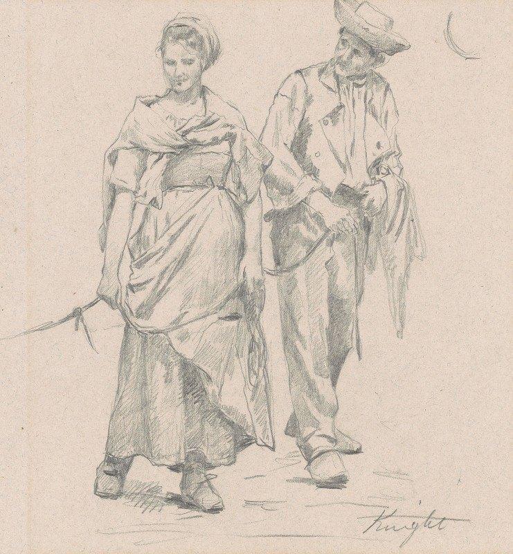 Daniel Ridgway Knight - Two Peasants