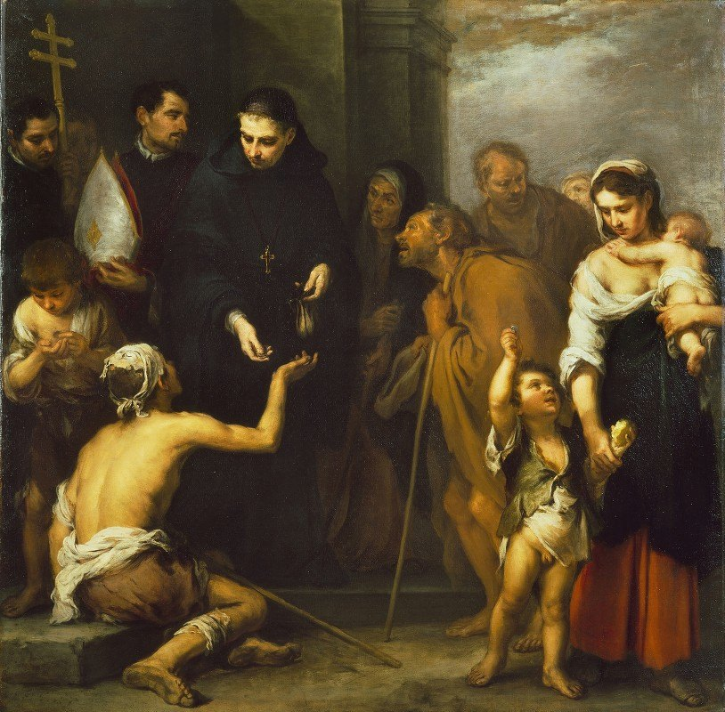 Bartolomé Estebán Murillo - The Charity of Saint Thomas of Villanueva