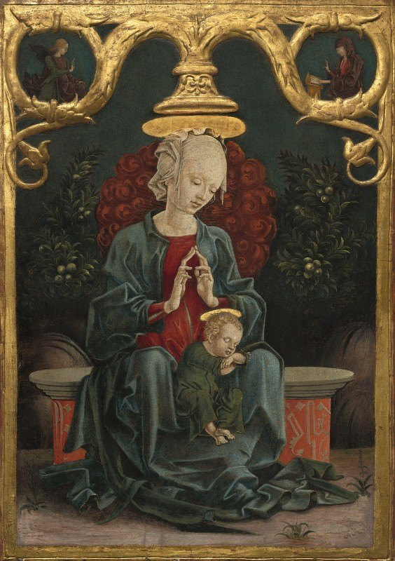 Cosmè Tura - Madonna and Child in a Garden