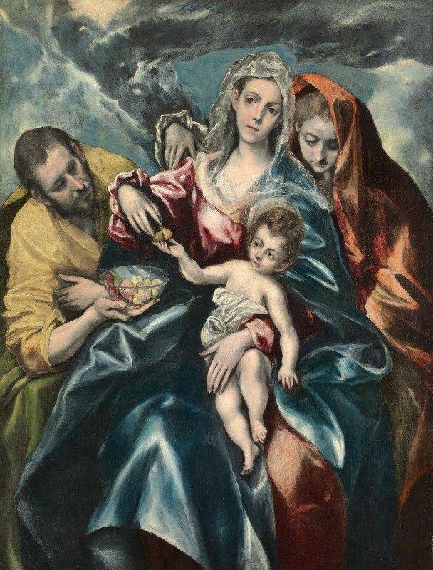 El Greco (Domenikos Theotokopoulos) - The Holy Family with Mary Magdalen
