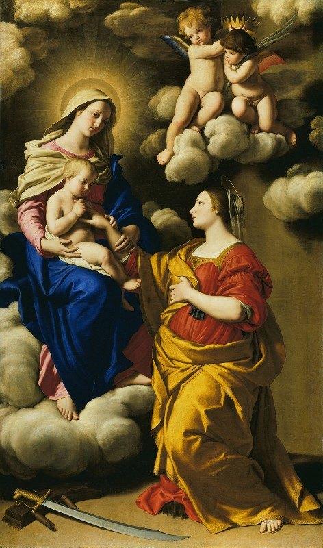 Giovanni Battista Salvi da Sassoferrato - The Mystic Marriage of Saint Catherine