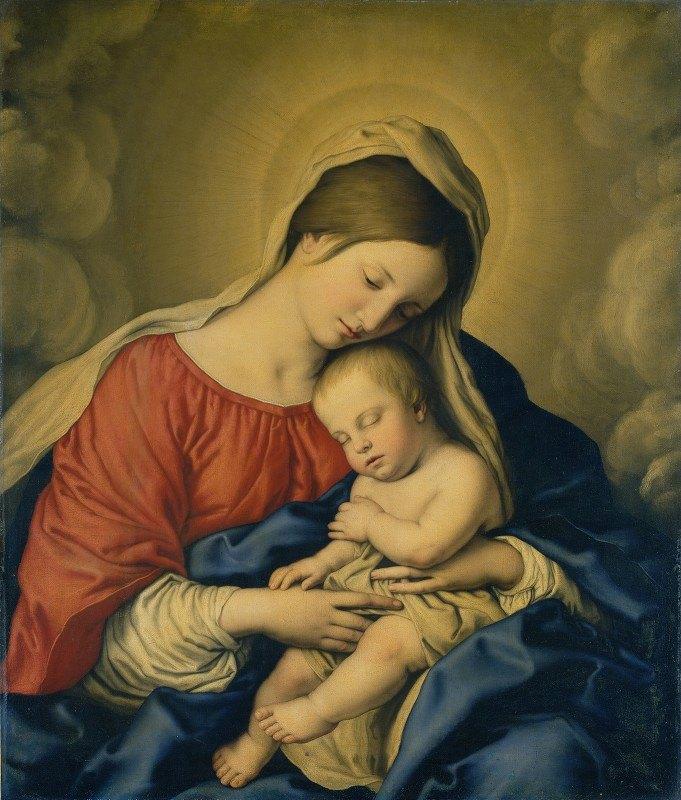 Giovanni Battista Salvi da Sassoferrato - The Virgin and Child