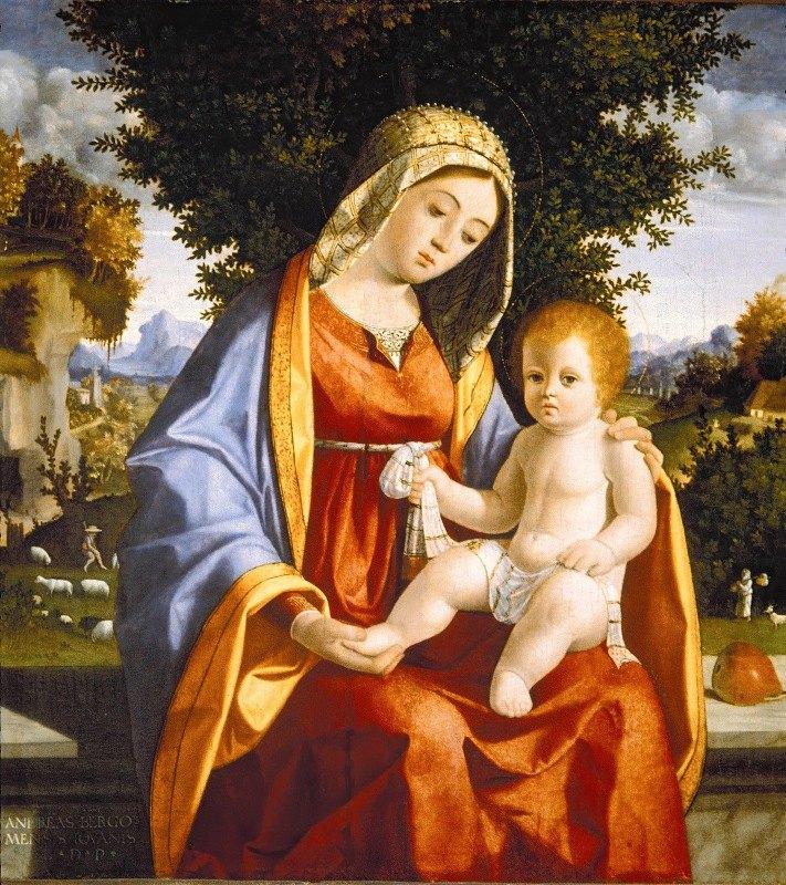 Andrea Previtali - Madonna and Child in Landscape