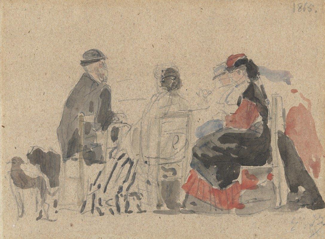 Eugène Boudin - Conversation on the Beach