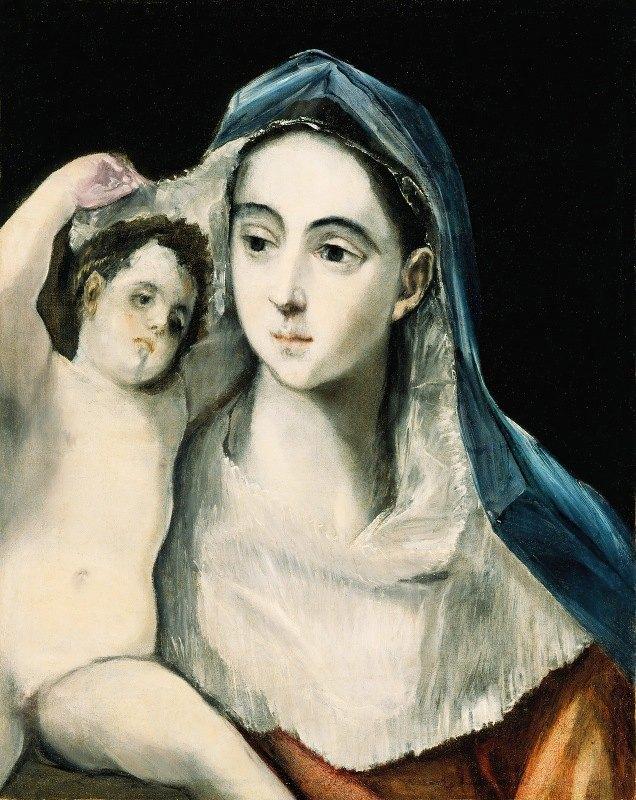 El Greco (Domenikos Theotokopoulos) - Madonna And Child