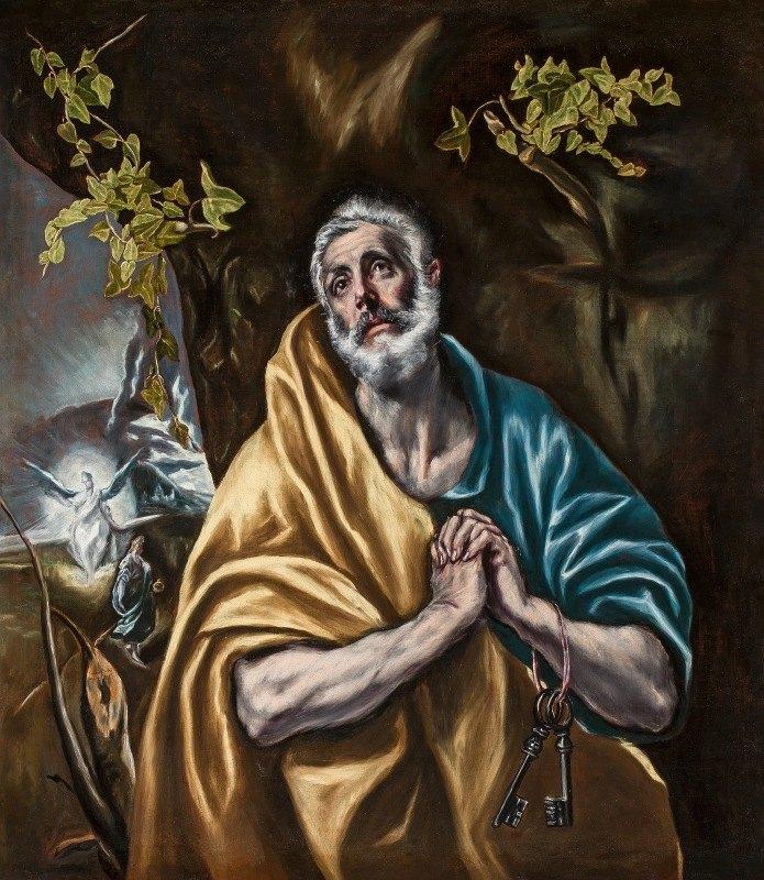 El Greco (Domenikos Theotokopoulos) - The Penitent Saint Peter