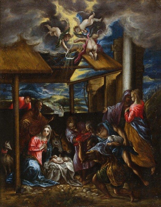 El Greco (Domenikos Theotokopoulos) - The Adoration Of The Shepherds