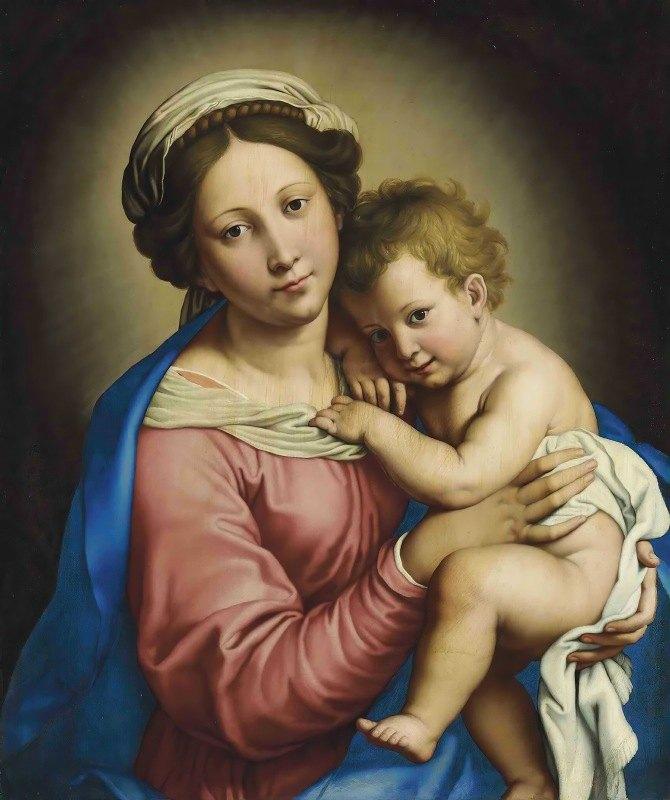 Giovanni Battista Salvi da Sassoferrato - The Madonna And Child