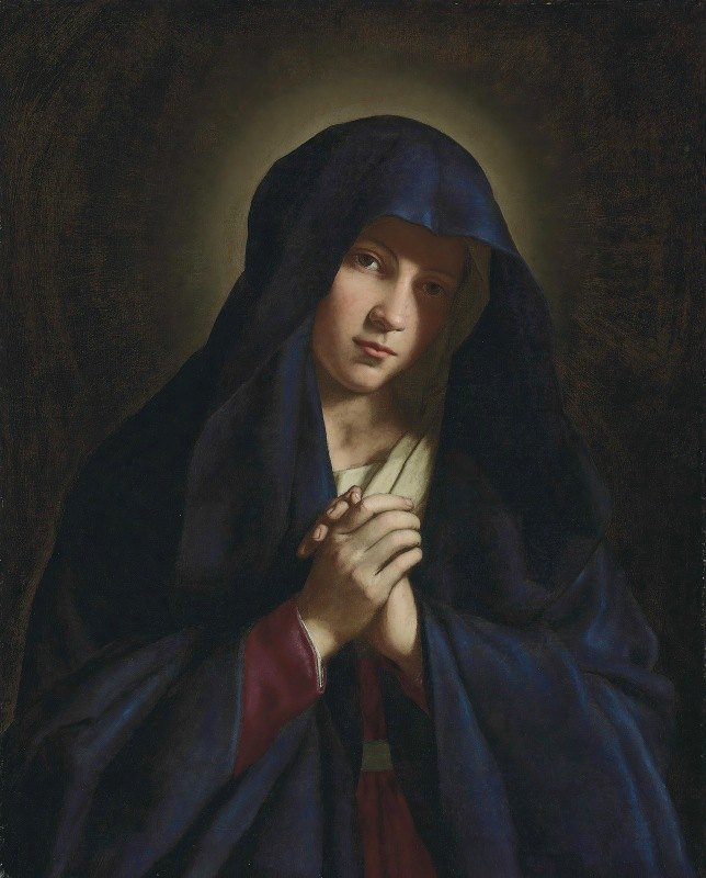 Giovanni Battista Salvi da Sassoferrato - The Madonna At Prayer
