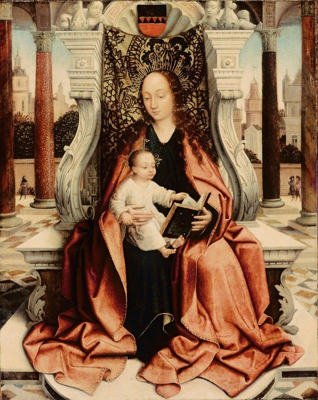 Master of Frankfort - The Virgin Enthroned