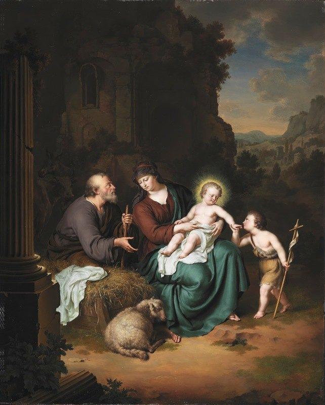 Willem Van Mieris - The Holy Family and Saint John the Baptist