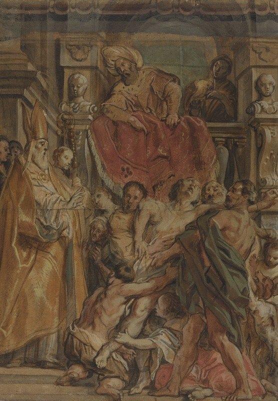 Jacob Jordaens - Saint Martin of Tours Healing the Servant of Tetrodius