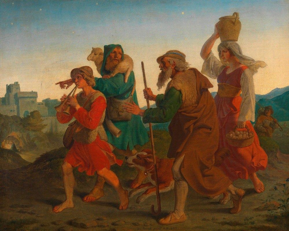 Joseph von Führich - Gang der Hirten zur Krippe