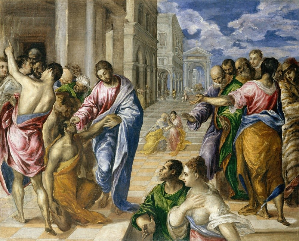 El Greco (Domenikos Theotokopoulos) - Christ Healing the Blind