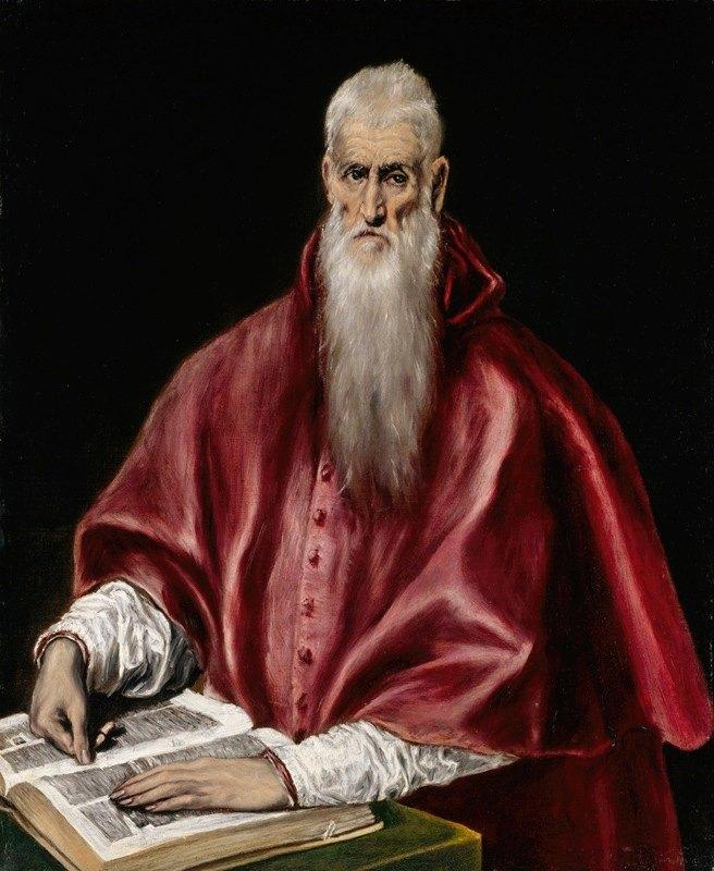 El Greco (Domenikos Theotokopoulos) - Saint Jerome as Scholar