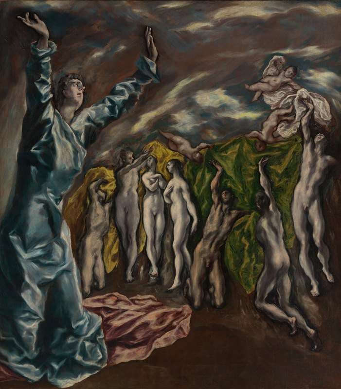 El Greco (Domenikos Theotokopoulos) - The Vision of Saint John