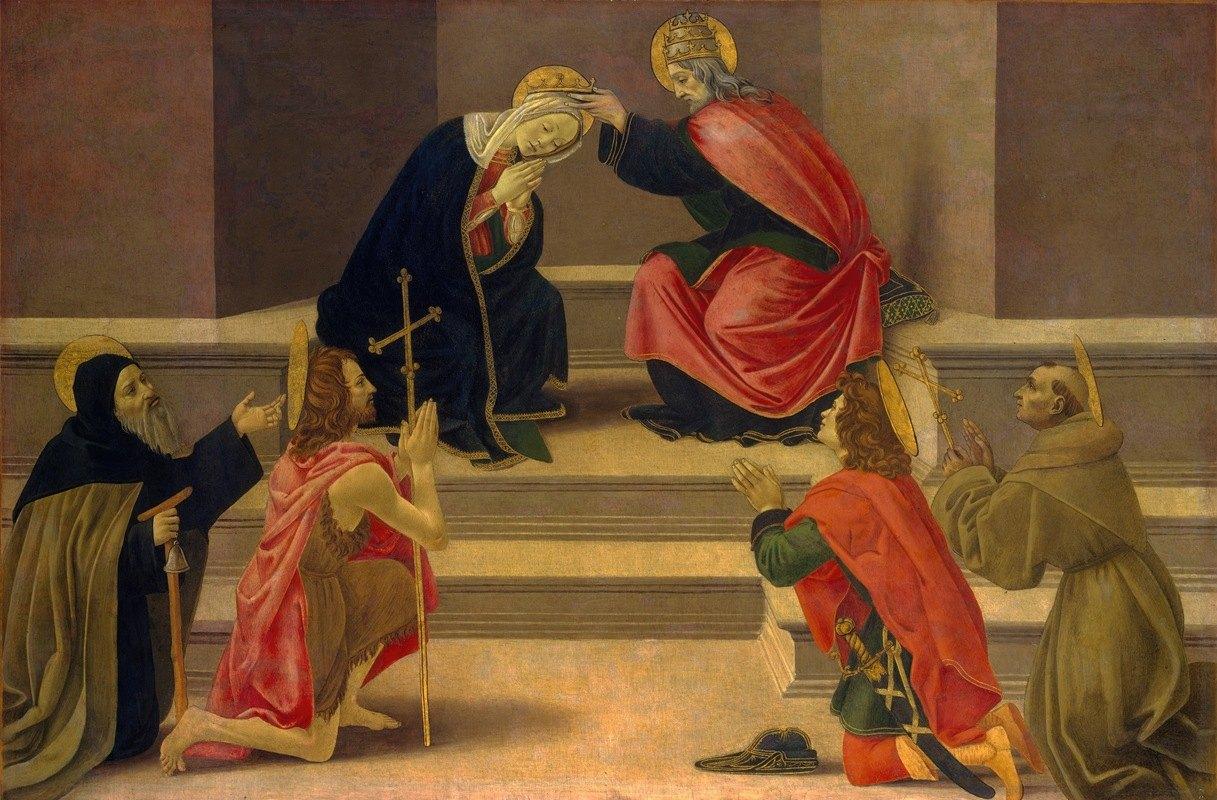 Follower Of Botticelli - The Coronation of the Virgin