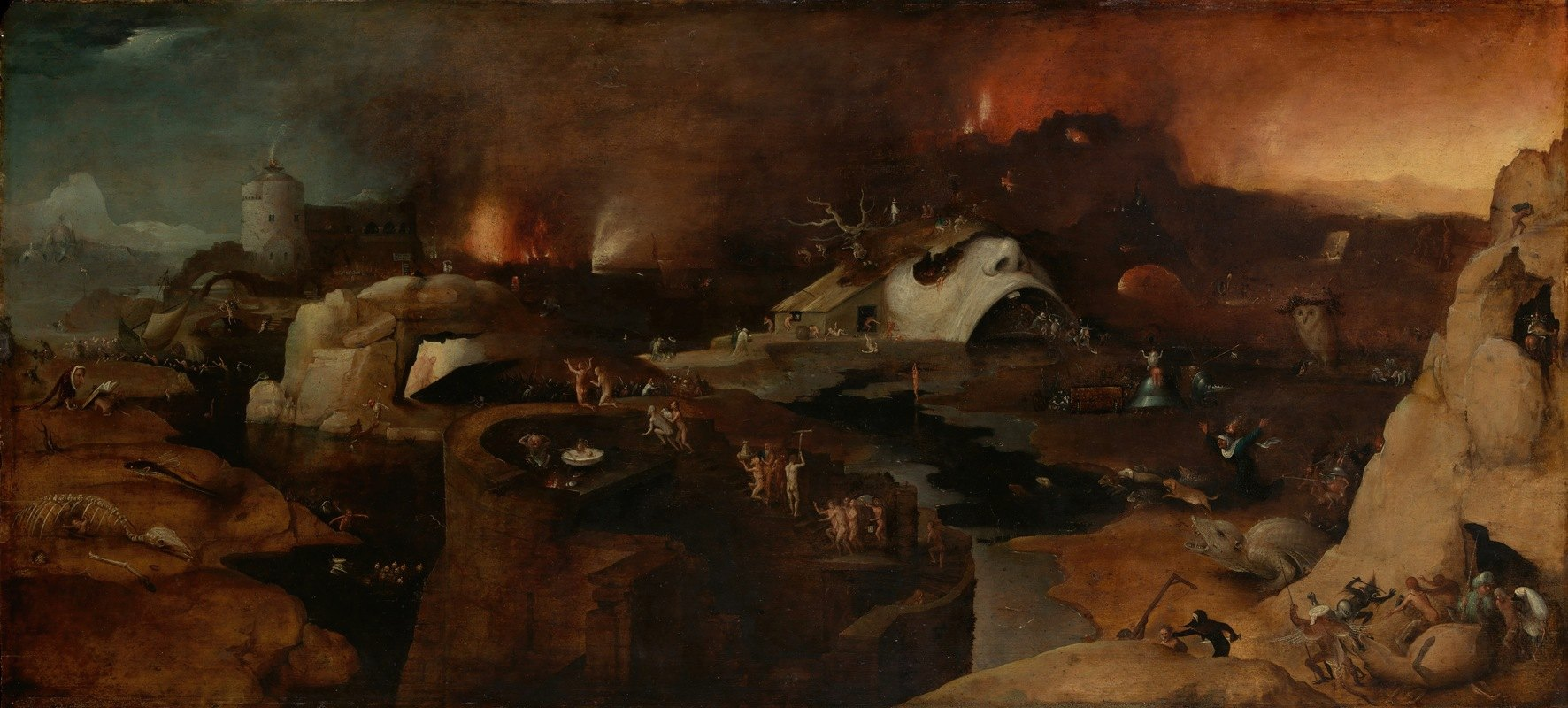 Follower of Hieronymus Bosch - Christ's Descent into Hell