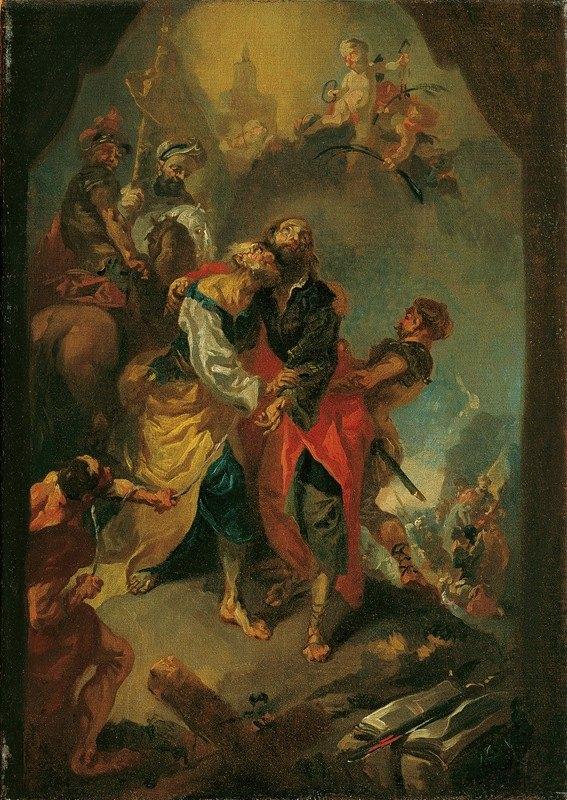 Franz Anton Maulbertsch - Abschied der Apostel Petrus und Paulus vor ihrem Martertod