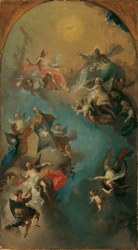 Franz Anton Maulbertsch - Die Aufnahme des heiligen Augustinus in den Himmel