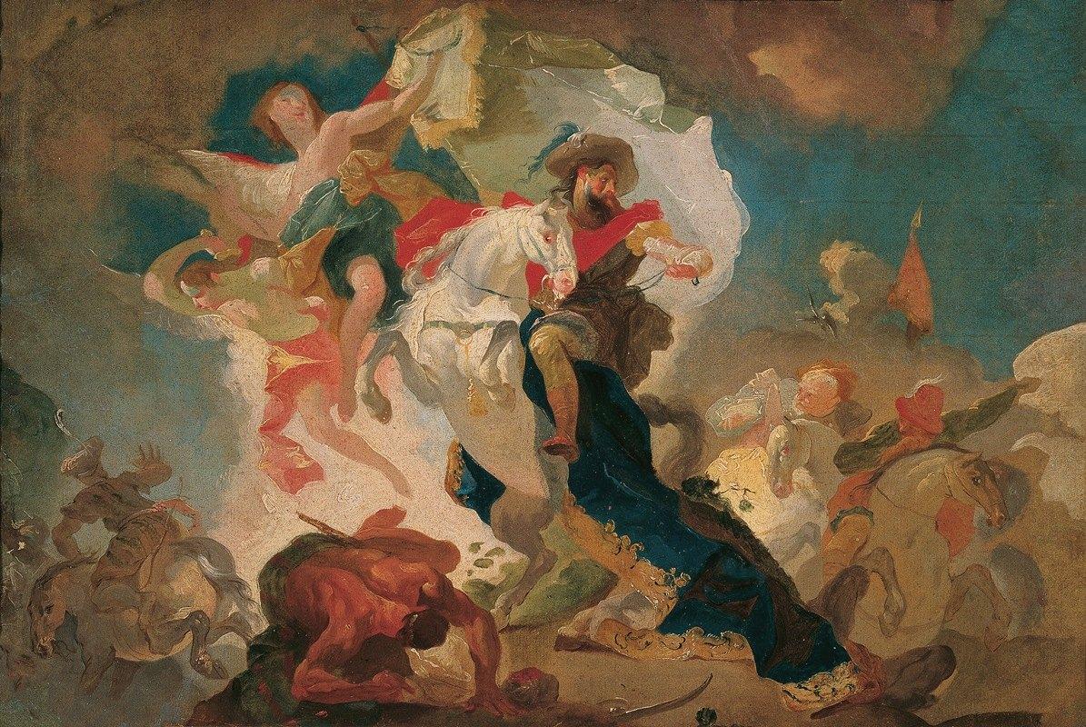Franz Anton Maulbertsch - Sieg des heiligen Jakob von Compostela über die Sarazenen in der Schlacht von Clavigo