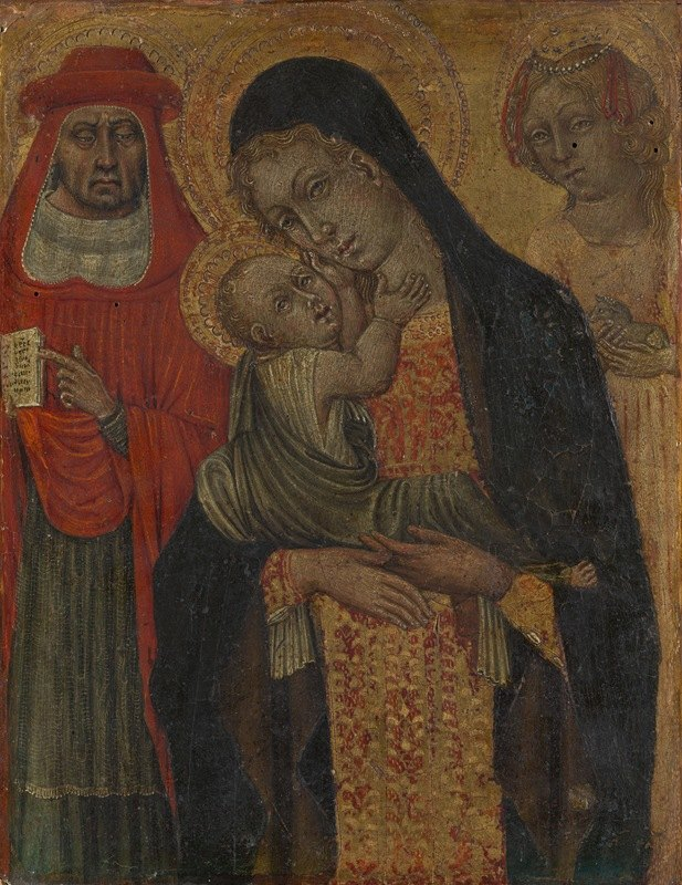 Giovanni di Paolo - Madonna and Child with Saints Jerome and Agnes