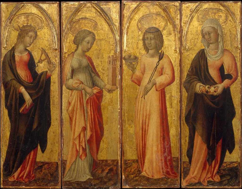 Giovanni di Paolo - Saints Catherine of Alexandria, Barbara, Agatha, and Margaret