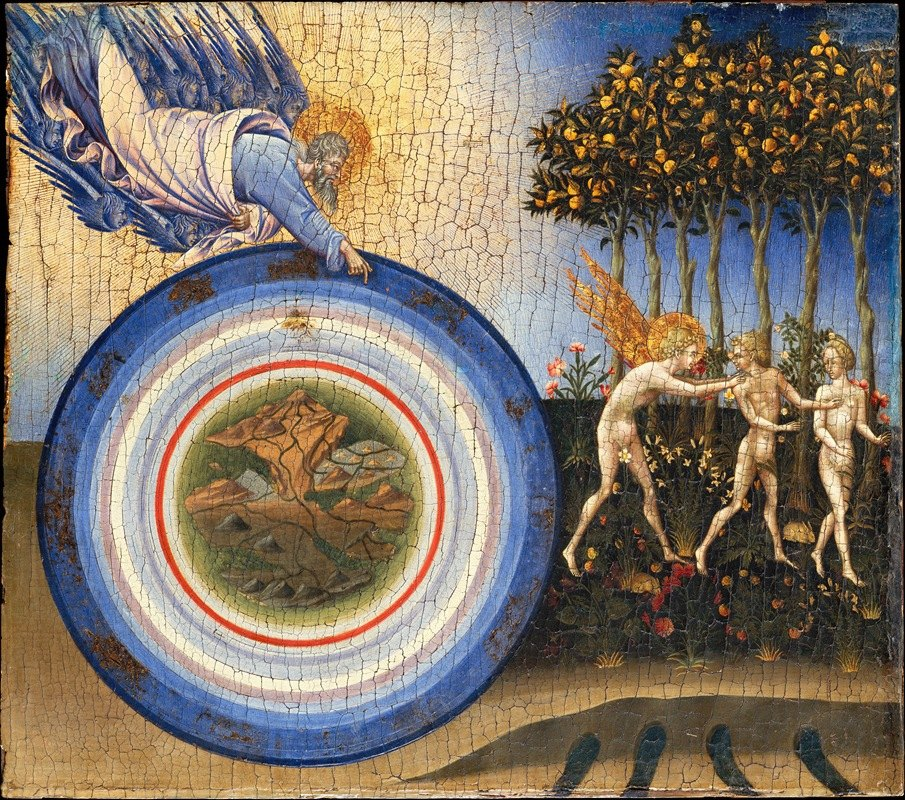 Giovanni di Paolo - The Creation of the World and the Expulsion from Paradise