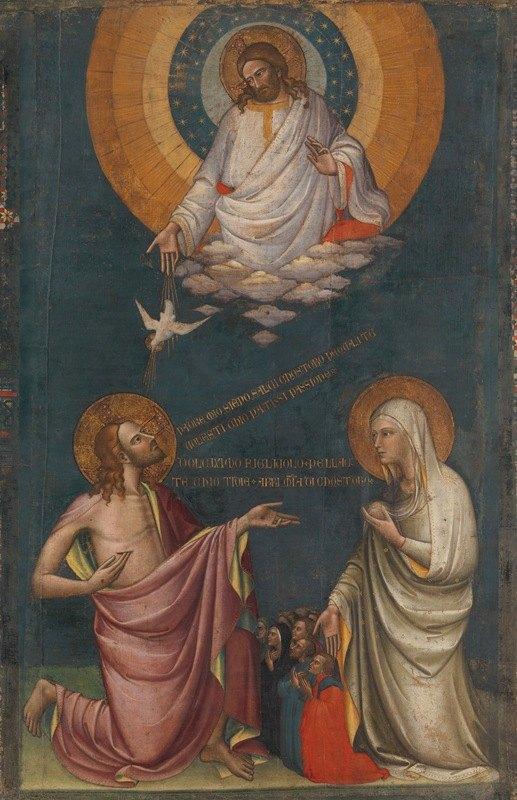 Lorenzo Monaco - The Intercession of Christ and the Virgin