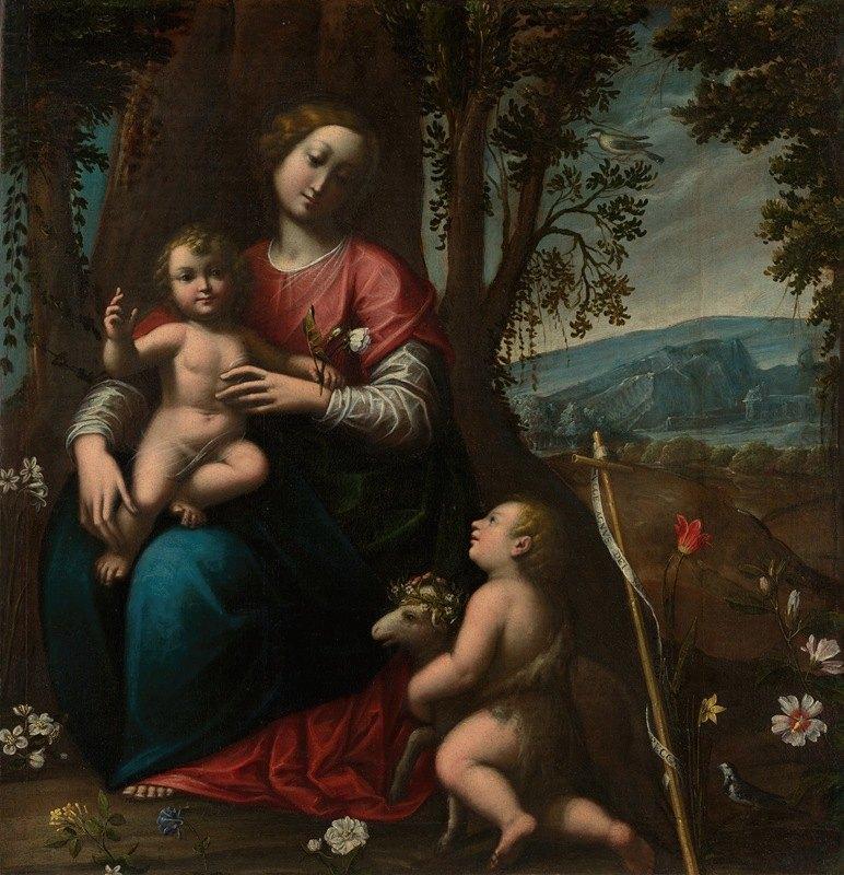 Orsola Maddalena Caccia - Madonna and Child with the Infant Saint John the Baptist