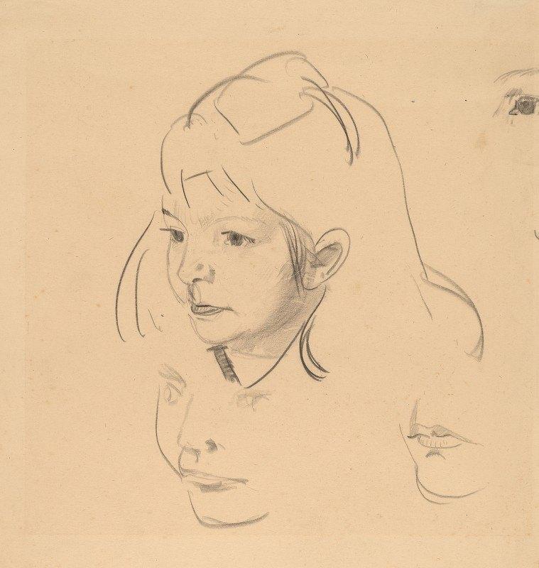 George Wesley Bellows - Studies of Jean