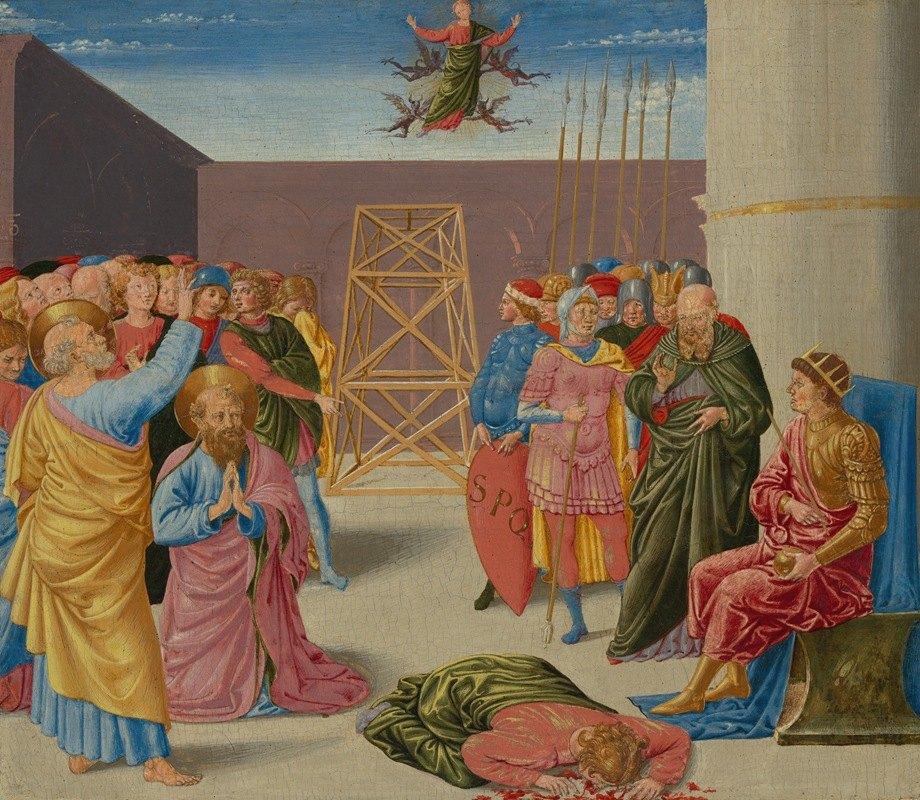 Benozzo Gozzoli - Saint Peter and Simon Magus