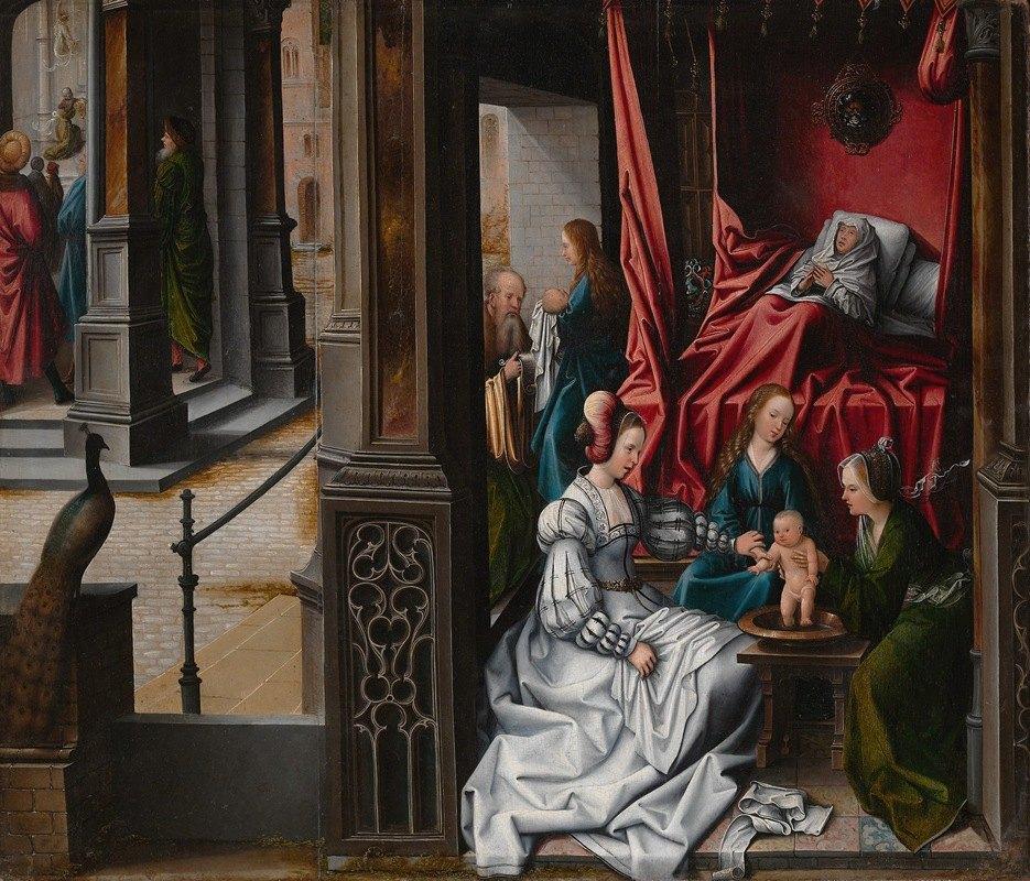 Bernard van Orley - The Birth and Naming of Saint John the Baptist