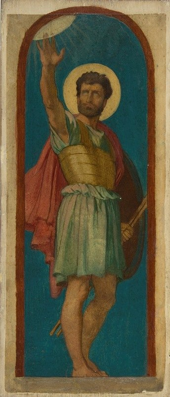 Jean-Hippolyte Flandrin - Joshua, with the Sun at Upper Left