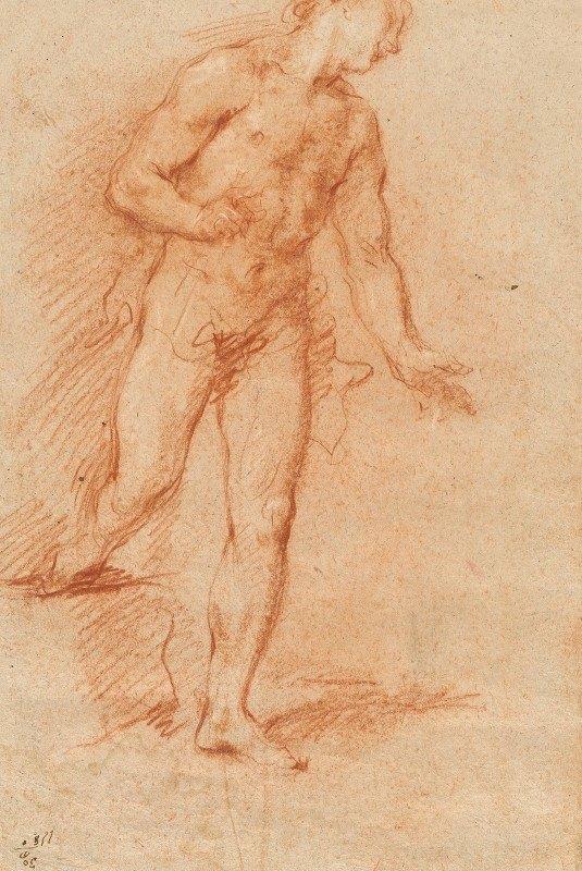 Giovanni Antonio Guardi - Male Nude