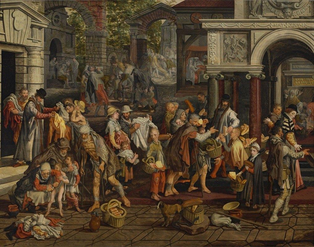 Pieter Aertsen - Christian deeds of mercy (Matthew 25;35-36)