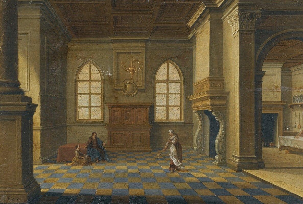 Bartholomeus van Bassen - Christ In The House Of Mary And Martha