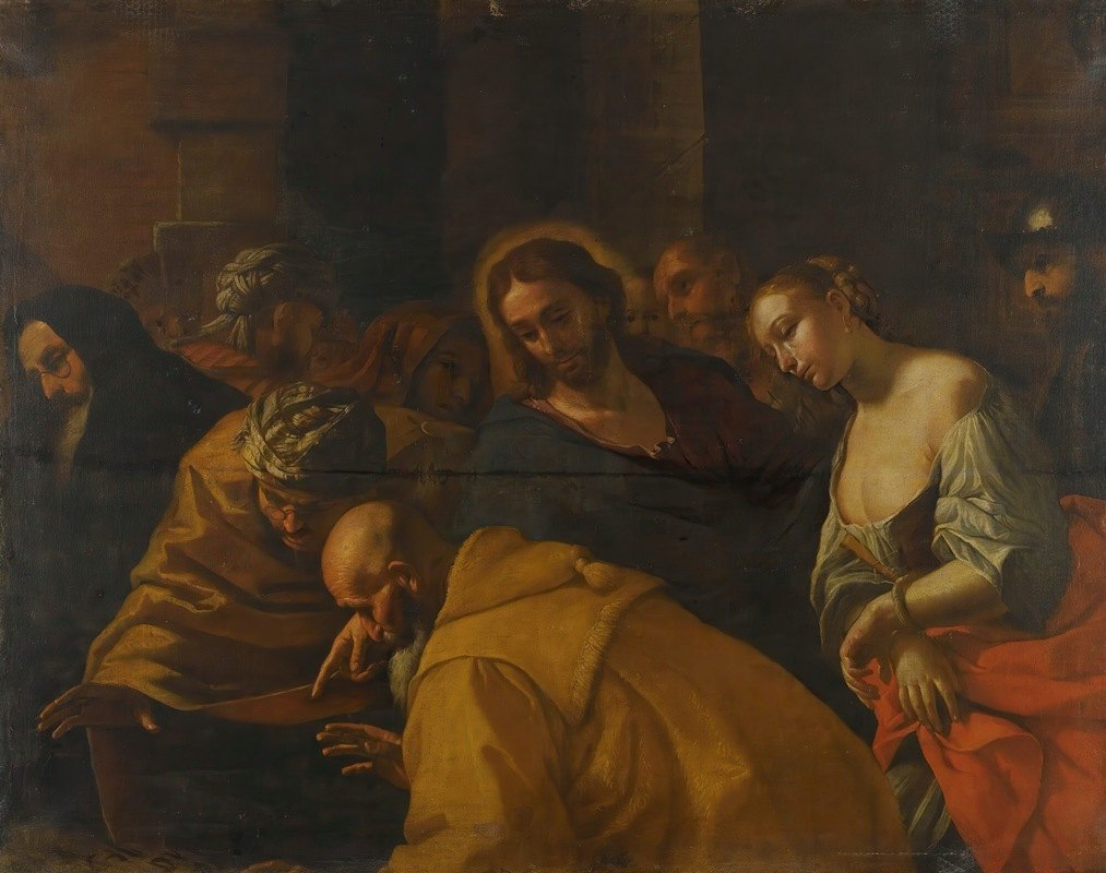 Mattia Preti - Christ And The Woman Taken In Adultery