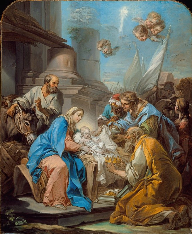 Charles-André van Loo - The Adoration of the Magi