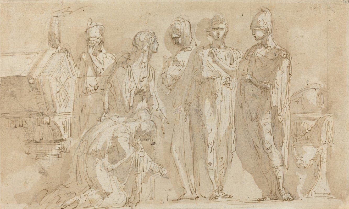 Giuseppe Bernardino Bison - Coriolanus before the Women of Rome