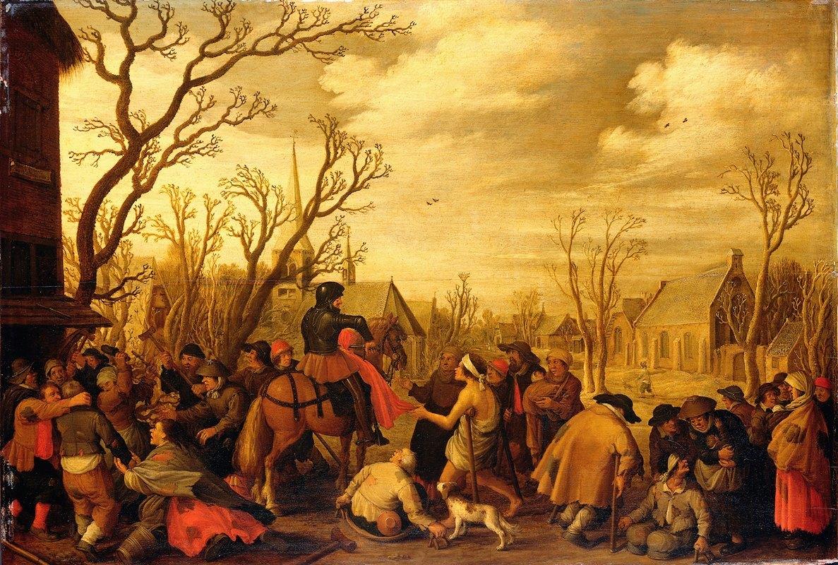 Joost Cornelisz Droochsloot - St Martin Cutting Off Part of his Cloak for a Beggar