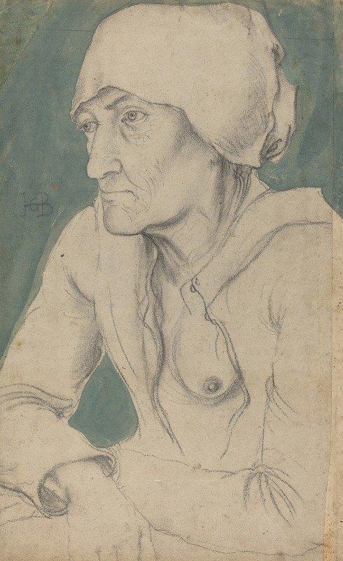 Hans Baldung - Half-Figure of an Old Woman with a Cap