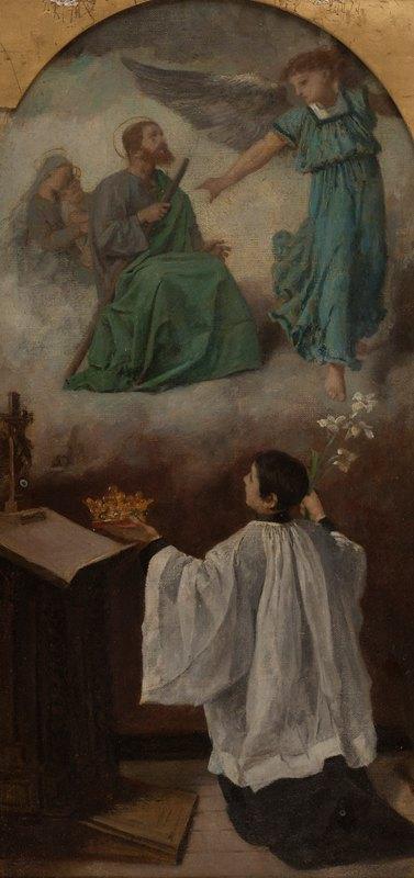 Isidore Patrois - Saint Louis de Gonzague en contemplation devant les vertus de Jésus ou La vision de saint Louis de Gonzague