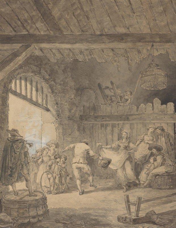 Hubert Robert - The Peasant Dance